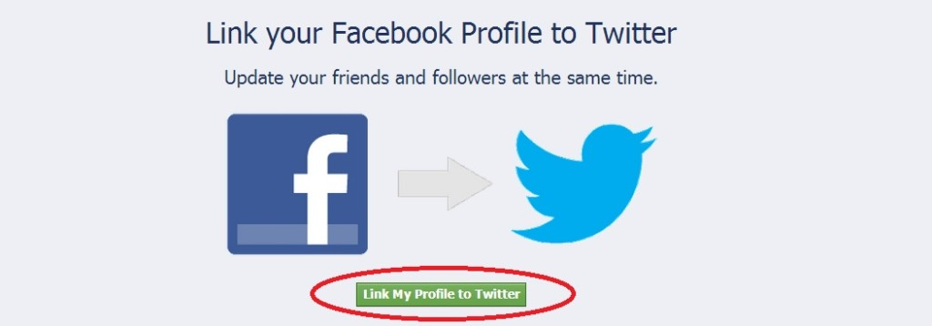 Connect facebook and twitter