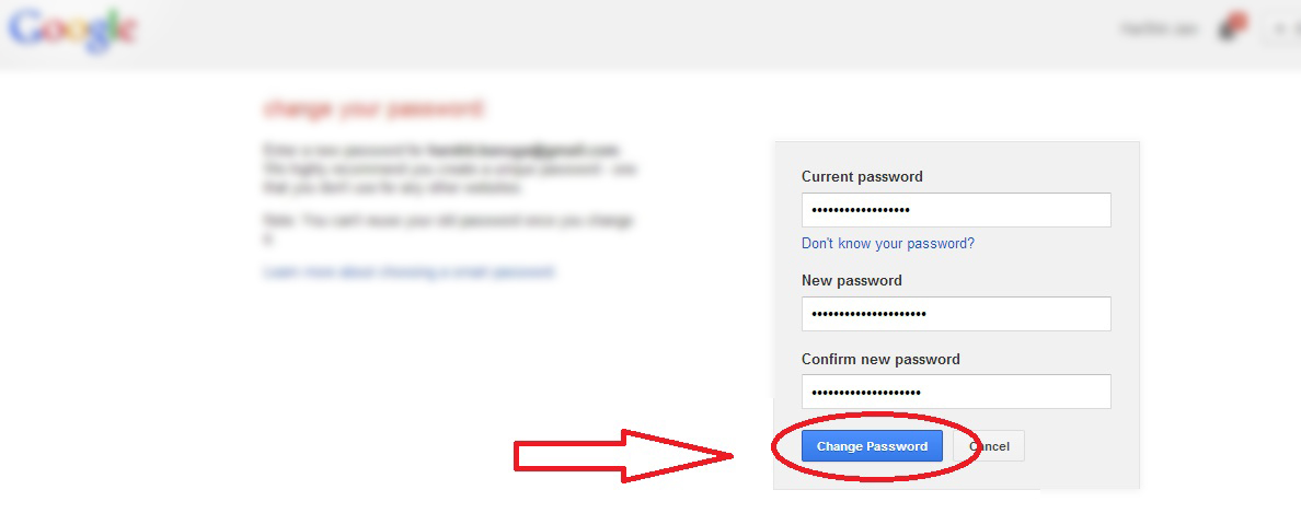 Change gmail password change gmail password How to change Gmail Password? 52