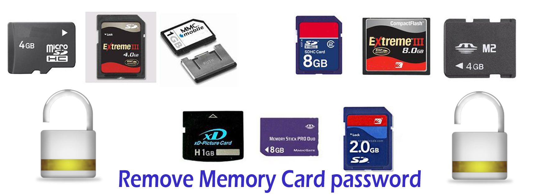 Remove memory card password