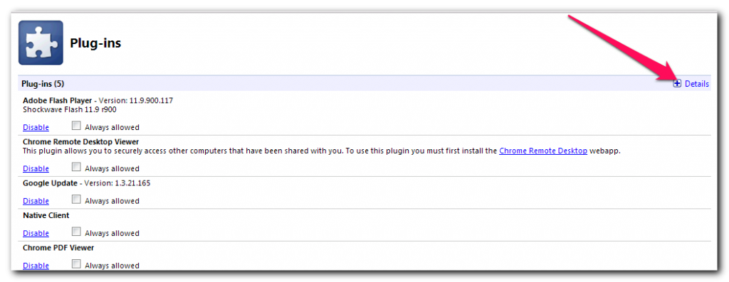 Disable Plugins Disable Plugins How To Find / Remove / Disable Plugins In Any Browser plug ins in google chrome