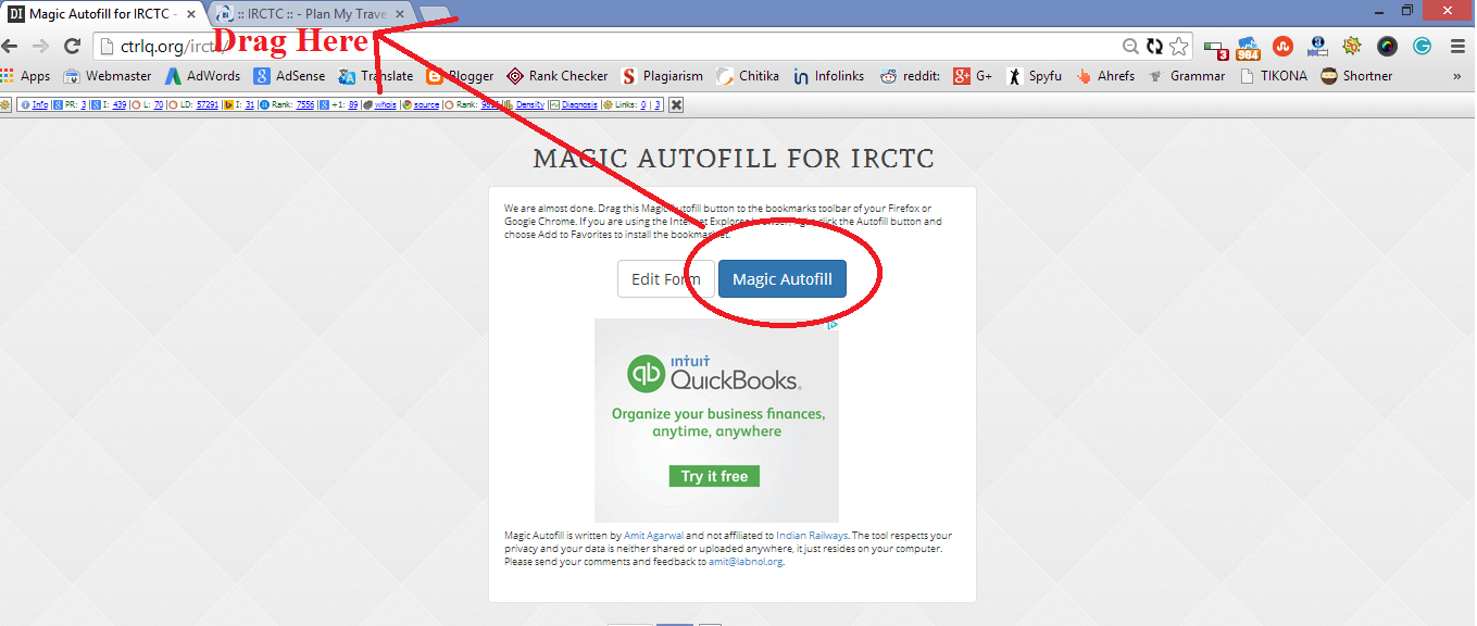 tips to speedup irctc ticket booking Tatkal ticket booking How to increase speed of IRCTC Tatkal Ticket booking? Magic submitter 1