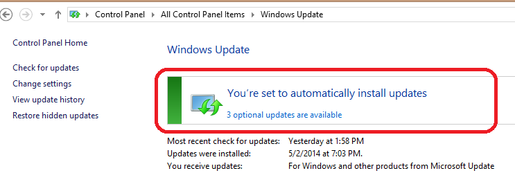 How to turn off Automatic windows updates