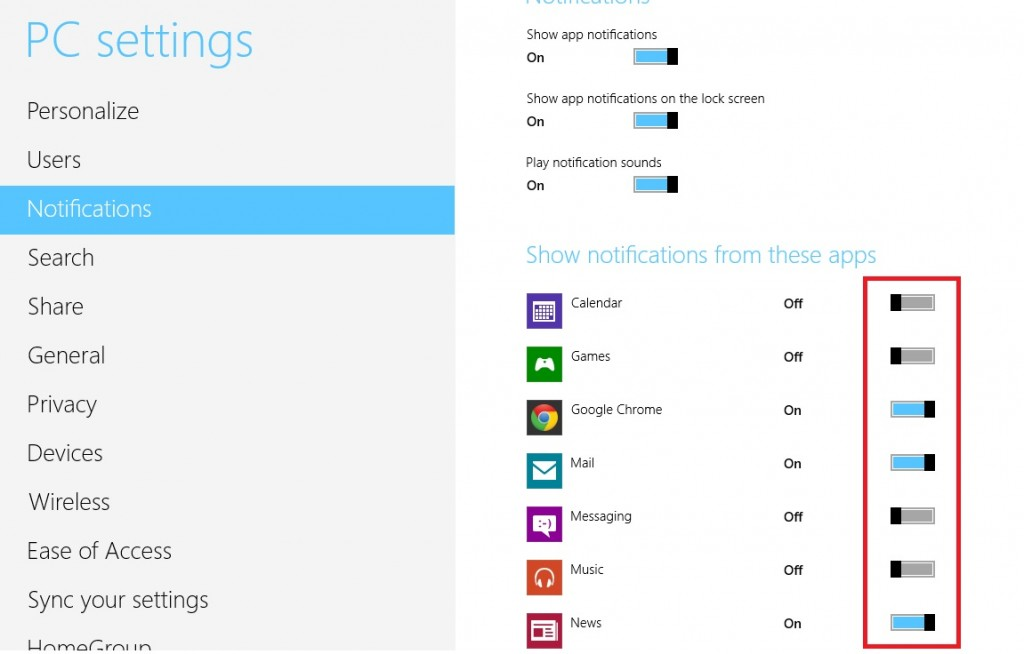 Start and stop windows 8 apps notfication How to start and stop notifications of apps in windows 8 & 8.1? How to start and stop notifications of apps in windows 8 & 8.1? 4