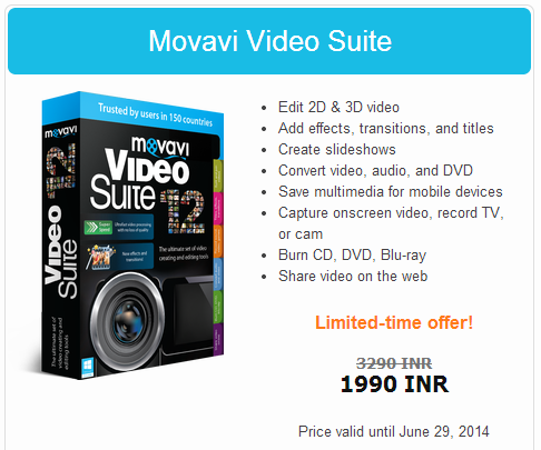 Movavi Video Suite price