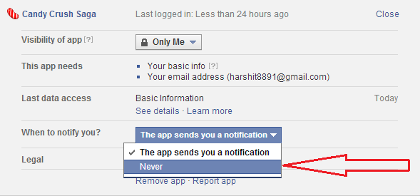 Block / Stop Candy Crush Saga Facebook Request Notifications?
