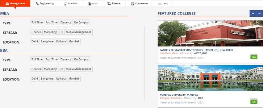 New Way To Find Top Colleges Amp Institutes In India