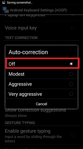 Disable Auto Correction in Android Phone How to Turn Off Auto Correction in Kitkat 4.4? How to Turn Off Auto Correction in Kitkat 4.4? Screenshot 2014 09 07 01 44 33