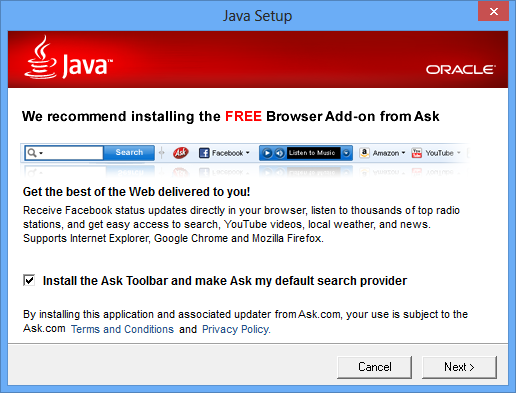 remove ask toolbar Remove Ask toolbar How to Remove the Ask Toolbar ask toolbar java installation