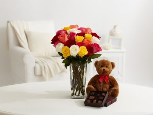 teddy bear images with flowers